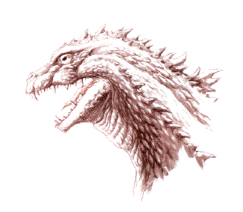 File:Concept Art - Godzilla 2000 Millennium - Godzilla Head 5.png