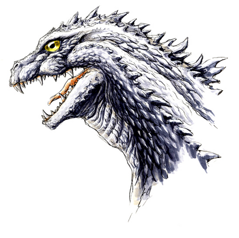 File:Concept Art - Godzilla 2000 Millennium - Godzilla Head 10.png