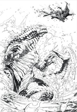 File:Concept Art - Awakening - Godzilla Behind Shinomura.png