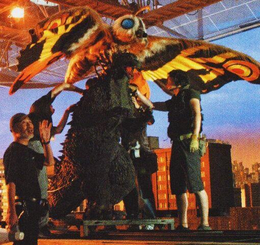 File:GMMG - Godzilla and Mothra On Set.jpg