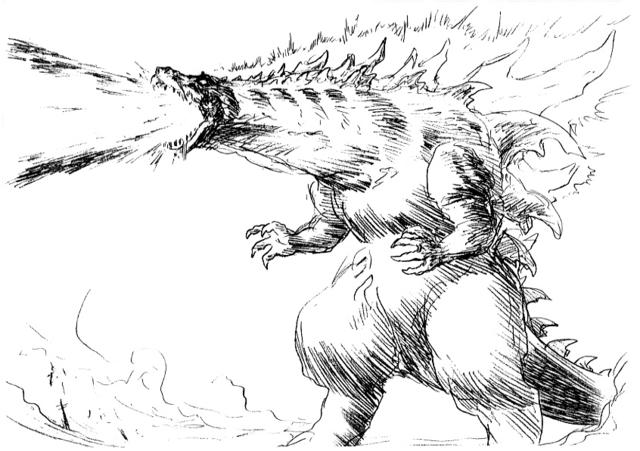 File:Concept Art - Godzilla 2000 Millennium - Godzilla 26.png