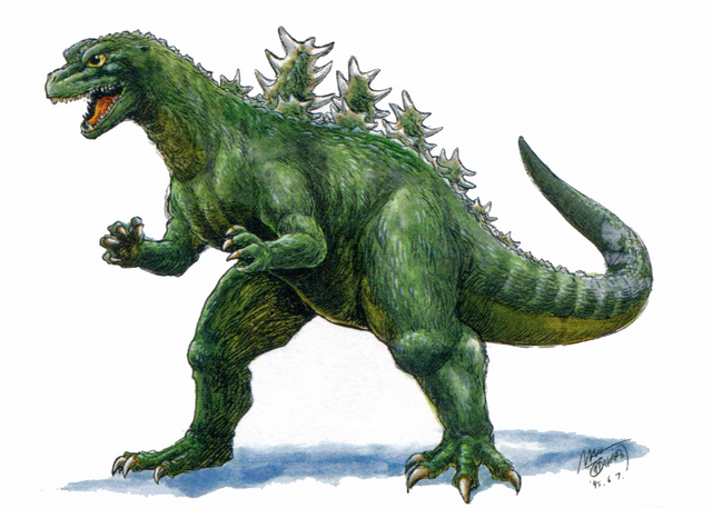 File:Concept Art - Godzilla vs. Destoroyah - Godzilla Junior 11.png