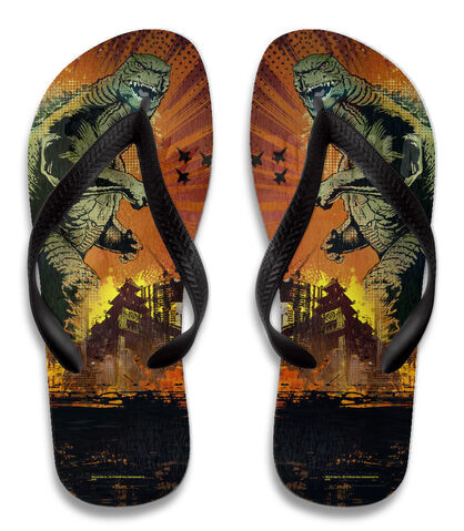File:Godzilla 2014 Merchandise - Clothes - Comic Flip Flops.jpg