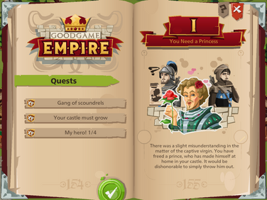 The first page in the quest book