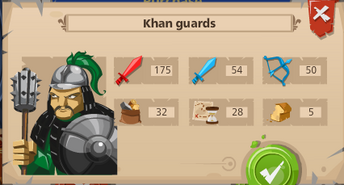 Khan guards