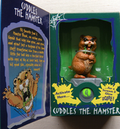 Cuddles the hamster action figure box