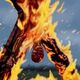 Burning Flayed Man