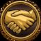 Friend Icon Gold Light