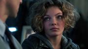 Selina telling Detective Gordon she saw who killed the Waynes