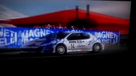 Gran Turismo 3 Peugeot 206 rally car en Swiss Alps