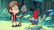 S1e1 Dipper holding shovel confused