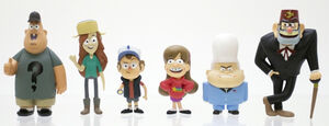 Gravity Falls Six Toy Pack Dipper Mabel Stan Soos Wendy Gideon12
