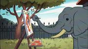 Short11 elephant painting