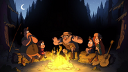 Opening stan, soos, mabel, dipper and wendy in forest