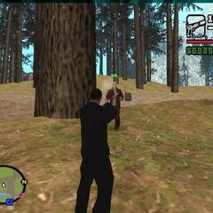 Jason Voorhees attacking CJ (MOD).