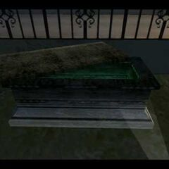 A coffin at <a href=