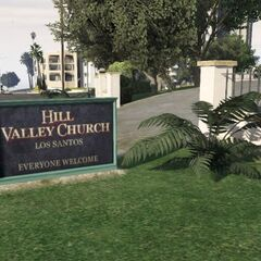 Hill Valley sign.
