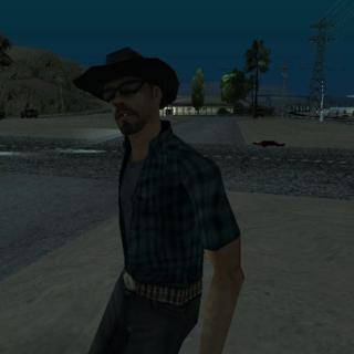 The Paranoid Cowboy, in Smokey, At Night.