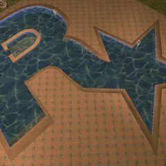 Rockstar swimming pool at the Starfish Island