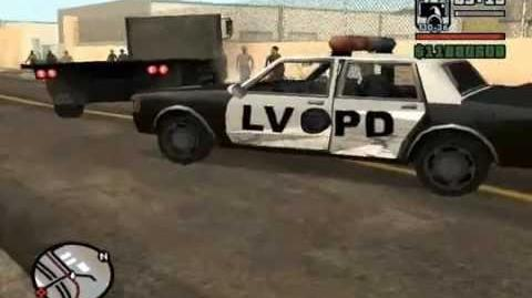 GTA SAN ANDREAS GLITCH (POLICE GHOST CAR)!