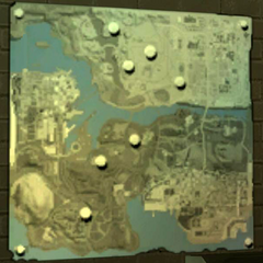 Beta map of San Andreas with Alcatraz Island north of San Fierro.