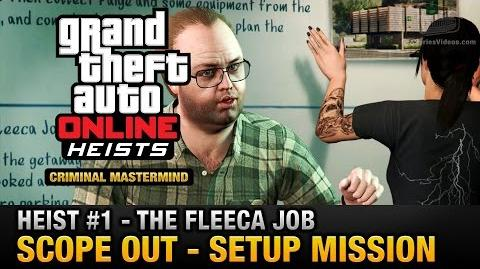 GTA Online Heist 1 - The Fleeca Job - Scope Out (Criminal Mastermind)