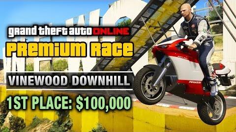 GTA Online - Premium Race 4 - Vinewood Downhill (Cunning Stunts)