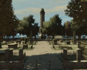 ColonyIsland-GTA4-cemeteryandlighthouse