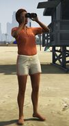 Lifeguard GTAVe Outfit Orange tee White shorts