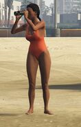 Lifeguard GTAVe Outfit Orange onepiece Front
