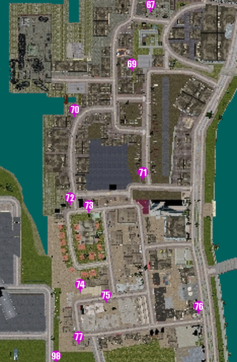GTAVC HiddenPack 69-77 Little Havana map
