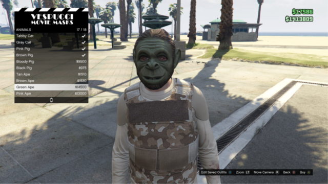 File:GTAO-Animal-Green Ape Mask.png