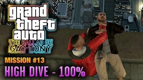 GTA The Ballad of Gay Tony - Mission 13 - High Dive 100% (1080p)