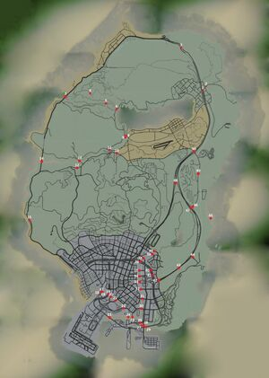 GTA 5 Under the bridge map locations-624x876