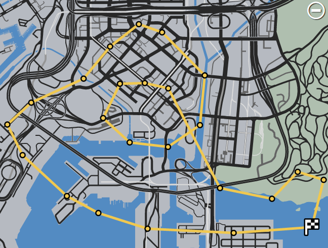 GTAO-SA Flight School Racing Race Map