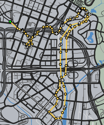 Quick Getaway GTAO Race Map