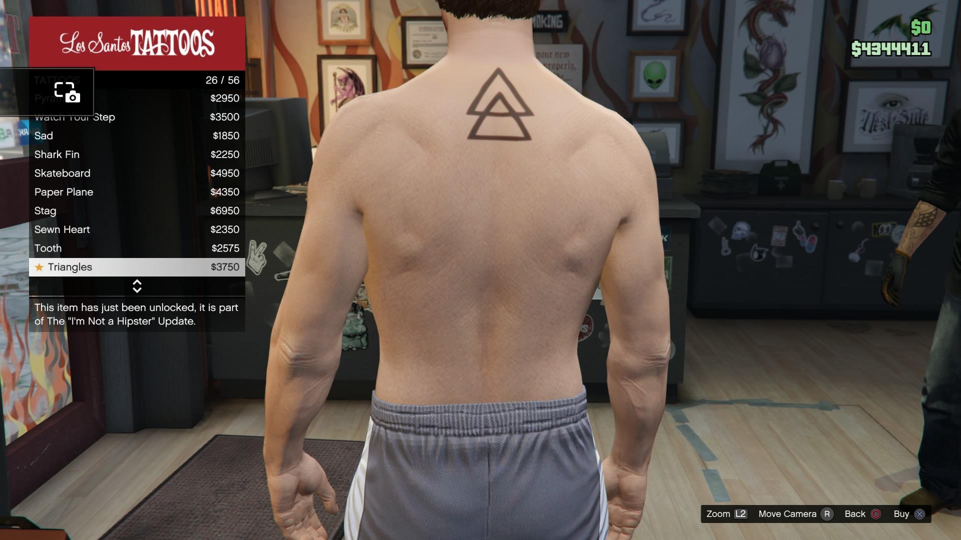 Blackjack tattoo gta v