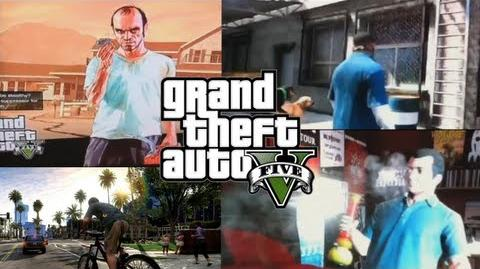 GTA 5 GAMEPLAY (Smoking Weed, Tennis, Car Wash, Cops, Bong Hits, Dog Sex, In-Game Phone, Map)