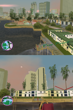 GTAVC HiddenPack 21 Washington Canal Strip Condo Dock to Leaf Links