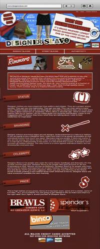 Designer Slave Main Page