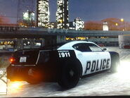 Police Buffalo Rear and Side View GTA V