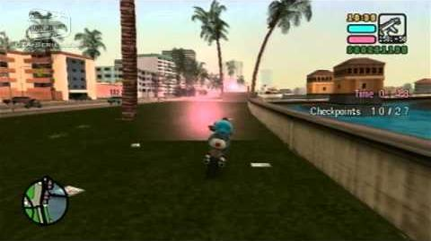 GTA Vice City Stories - Walkthrough - Playground On The Dock - Checkpoint Race PS2 Exclusive
