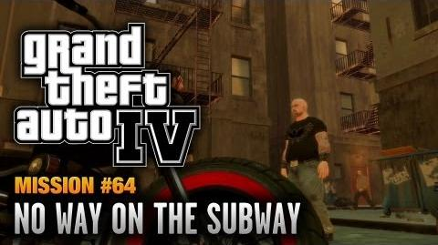 GTA 4 - Mission 64 - No Way on the Subway (1080p)