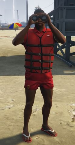 File:Lifeguard GTAVe Outfit Red tee Red shorts Front Lifevest.jpg