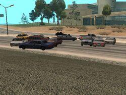 Las Venturas-Traffic Jam