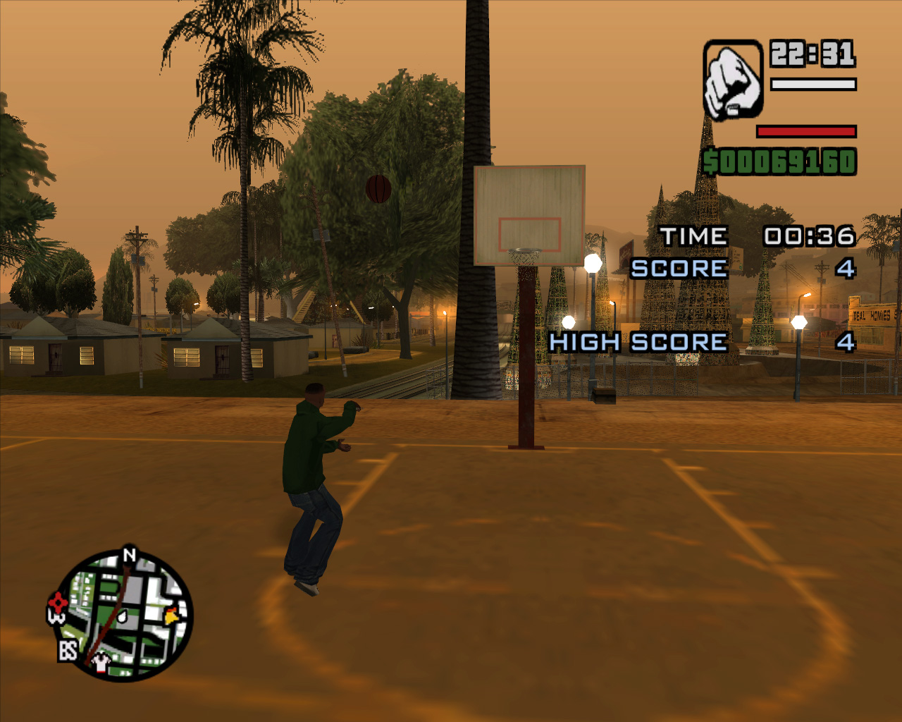 Image cj gtav transparent png gta wiki the grand theft auto wiki - A Basketball Challenge In Progress In Gta San Andreas Cj Is Seen Shooting A Basketball To A Basketball Hoop Basketball Is A Sport In The Grand Theft Auto