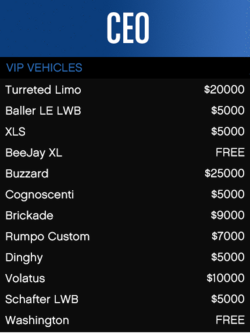 VIP-Vehicles-GTAO