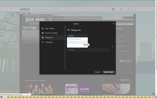 File:Screenshot-TestPage-ExampleOfDeletedRedirectCategoryAppearing.png