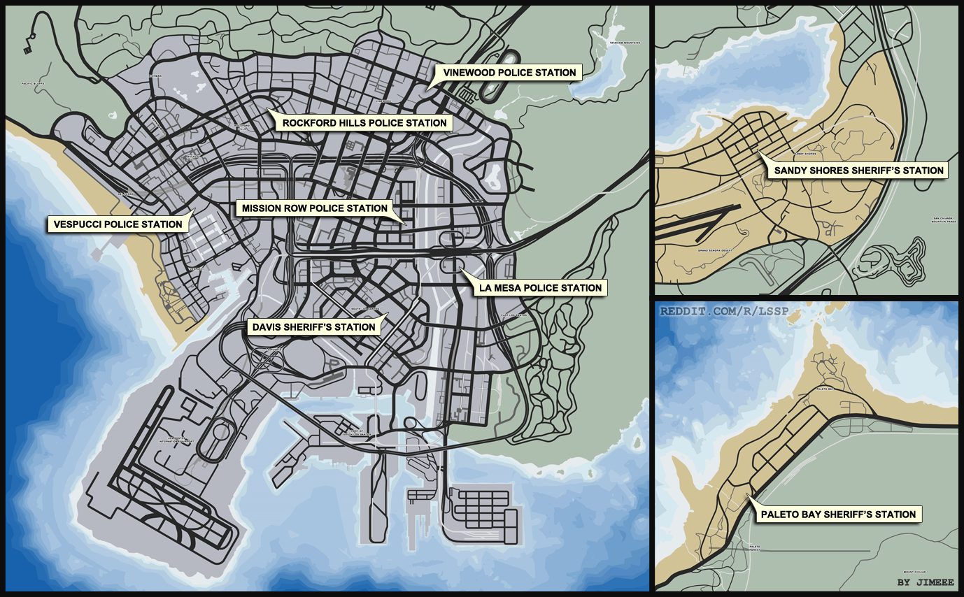 Map grand theft auto v - Gta5 Police Station Map 03 Png