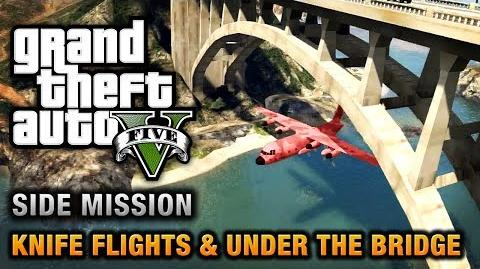 GTA 5 - Under the Bridge and Knife Flight Challenges Close Shave Achievement Trophy-0